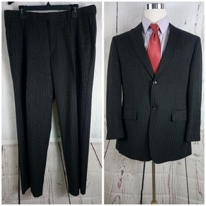 Paolo Giardini 42S Men's 2pc Brown Stripe Suit